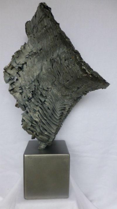 Stahlplastik Transformation , Größe: 63x37x20 cm.
